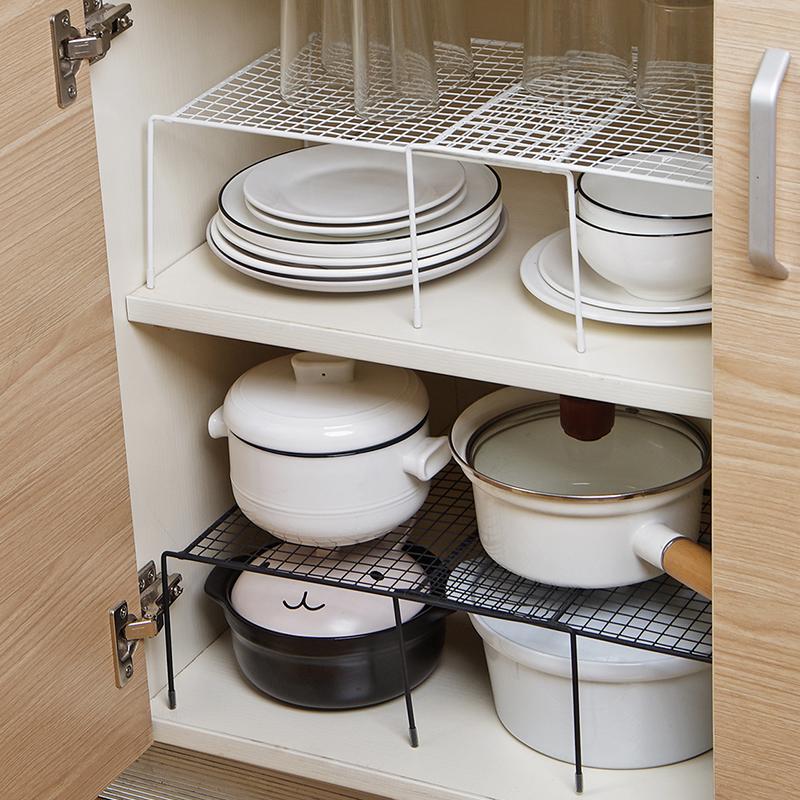 可伸缩铁艺厨房置物架