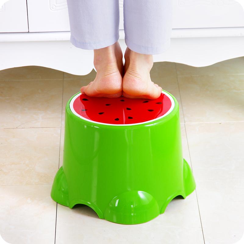 优思居 可爱水果儿童凳 创意塑料凳小板凳宝宝矮凳脚凳家用小凳子