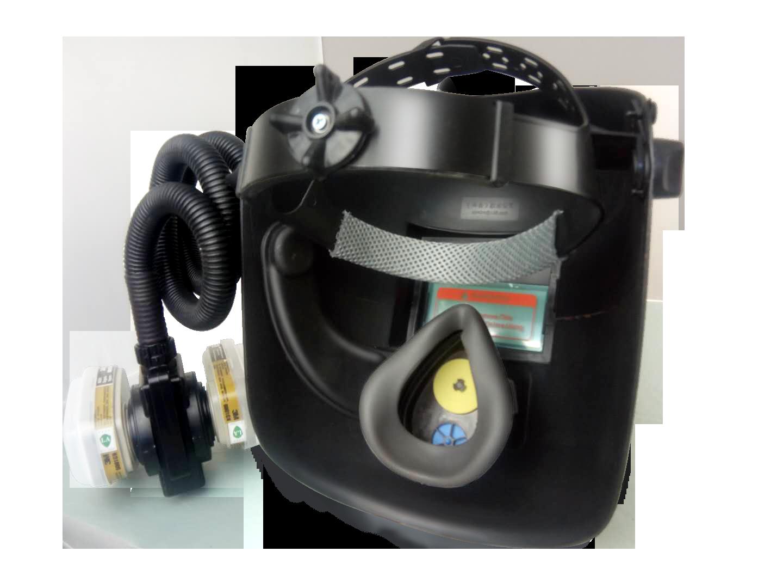 促销康本3M6001电动送风电焊面罩太阳能自动变光大镜片氩弧焊二保