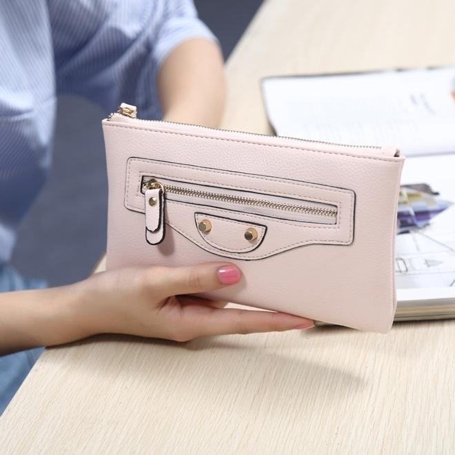 寸大屏手机零钱包 6 女款钱包长款拉链大容量超薄女士皮夹手拿包 AMA