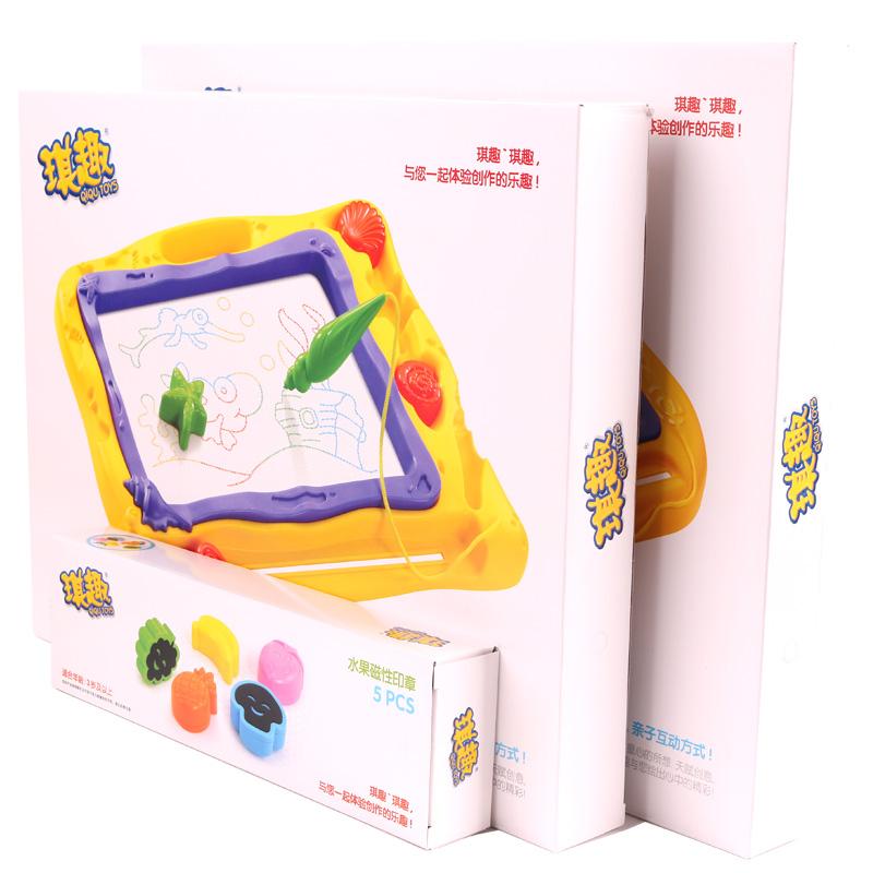 琪趣儿童学习画板写字板磁性画板画画涂鸦板益智玩具礼物4-5岁