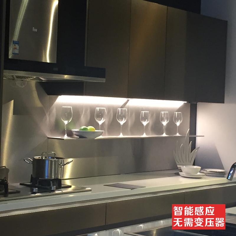 橱柜灯LED柜底灯厨房感应灯手扫吊柜灯超薄无变压器柜下灯带开关