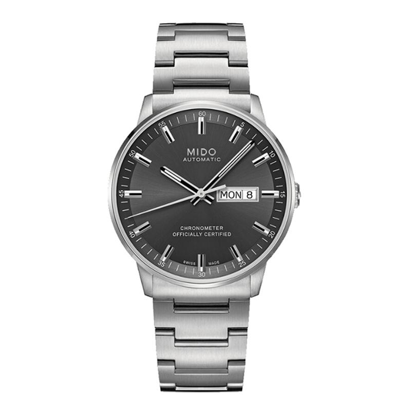 瑞士美度MIDO指挥官系列自动机械手表钢带男表M021.431.11.061.00