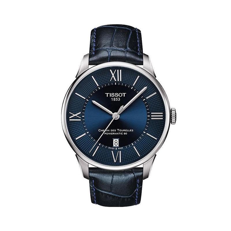 保税瑞士天梭手表男杜鲁尔系列机械表皮带腕表T099.407.16.048.00