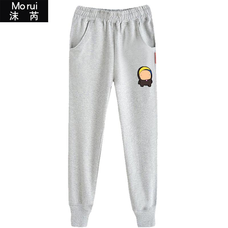 爆笑风暴英雄游戏二次元周边卫裤小脚裤子男女休闲裤修身运动长裤