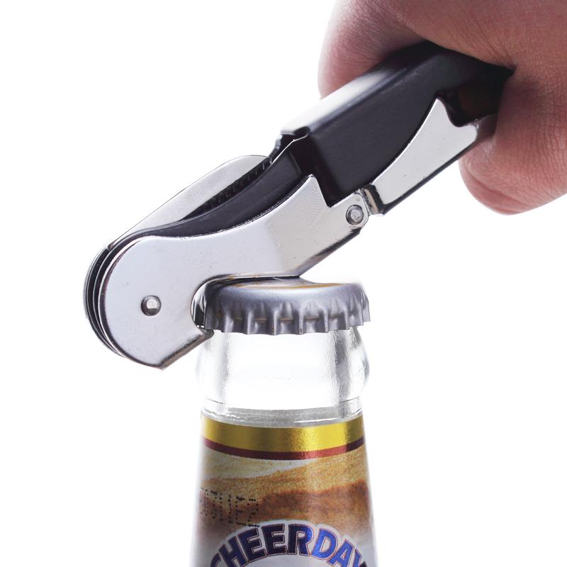 不锈钢红酒葡萄酒来开瓶器多功能便携海马刀酒刀启瓶器啤酒起子