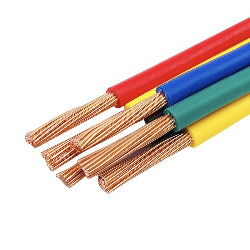 国标无氧铜BVR BVV10 16 25 35 50平方电线单芯多股2.5 4平方铜芯【图5】