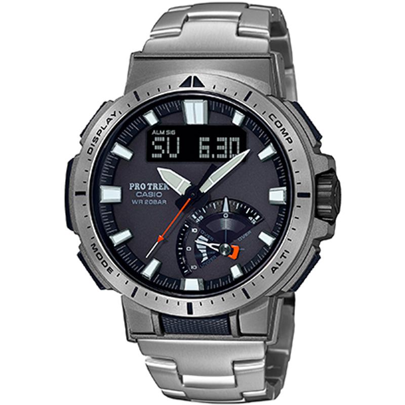 户外运动男表 1PR Y 7 70YT PRW 光能电波登山表 PROTREK 卡西欧手表