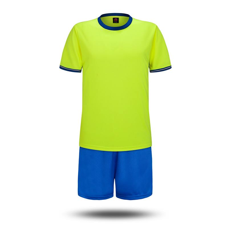 2016 new football training wear clothes blank light board team short sleeve  jersey football clothes suit can be freely customized printed font 954120336