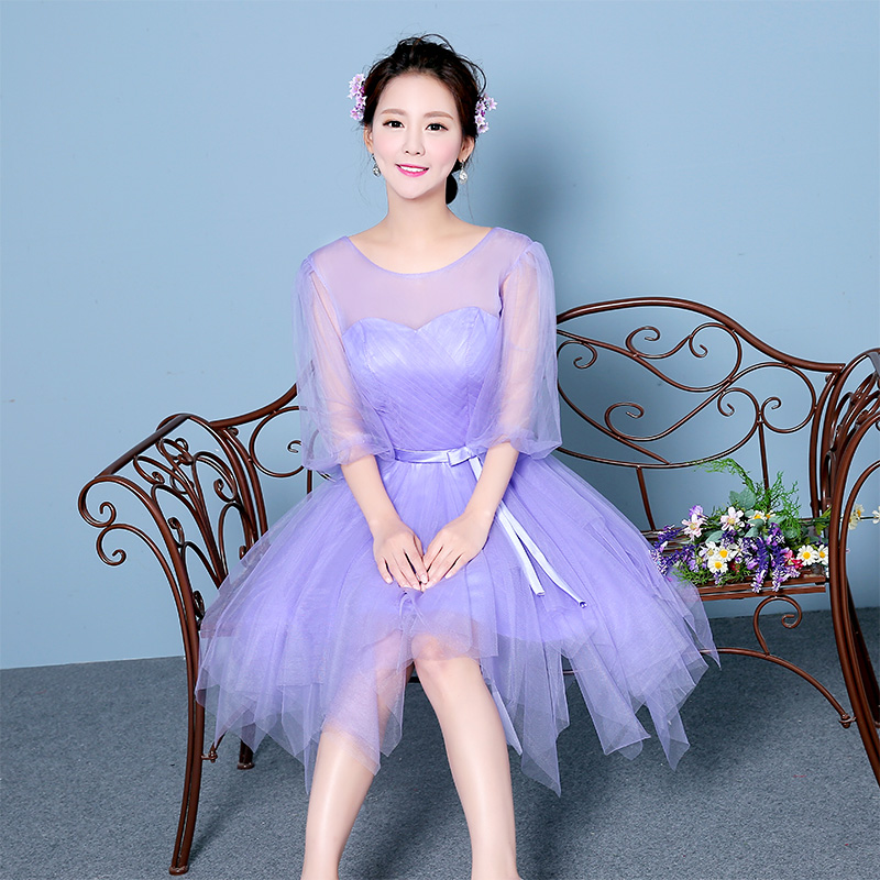 0a8cb6e9e77c Buy 2016 new group bridesmaid dress bridesmaid dress bridesmaid dress short  paragraph sister sister small light purple dress skirt dress banquet in  Cheap ...