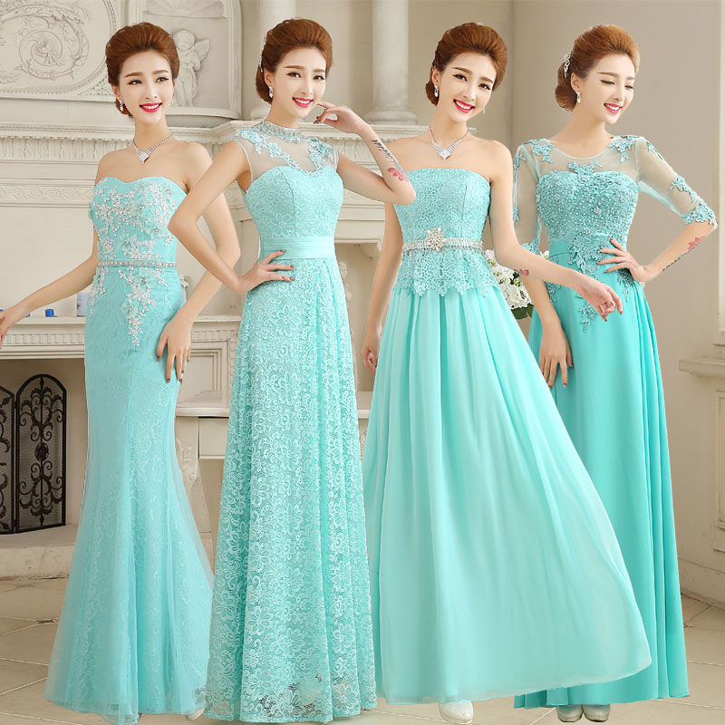 2016 New Wedding Dress Bride Toast Clothing Fashion Green Lace Evening Long Section Of Female Spring And Summer In Price On