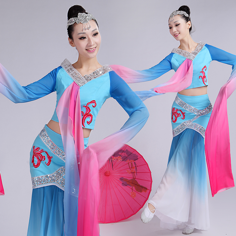 05a7d04c412c 2016 of the new moon sleeves classical dance clothes ethnic costumes  dunhuang flying days plucking dance clothes adult female