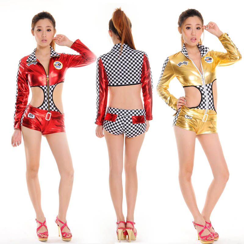 Back To Search Resultsnovelty & Special Use Belly Dancing Women Car Models Racing Suits Nightclubs Uniform Temptation Pole Dancing Lead Dancer Clothing