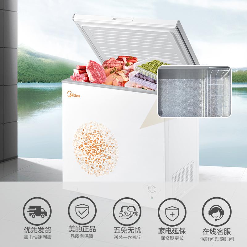 冰柜小型家用冰箱冷柜冷藏迷你保鲜冷冻两用 E 203KM BC BD 美