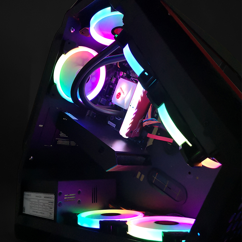 臺式整機全套 lol 組裝電腦主機電競網吧游戲型吃雞水冷 i5i7 高配