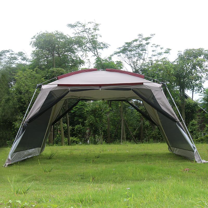 户外凉棚露营多人烧烤遮阳棚便携式折叠沙滩天幕防雨防晒大帐篷