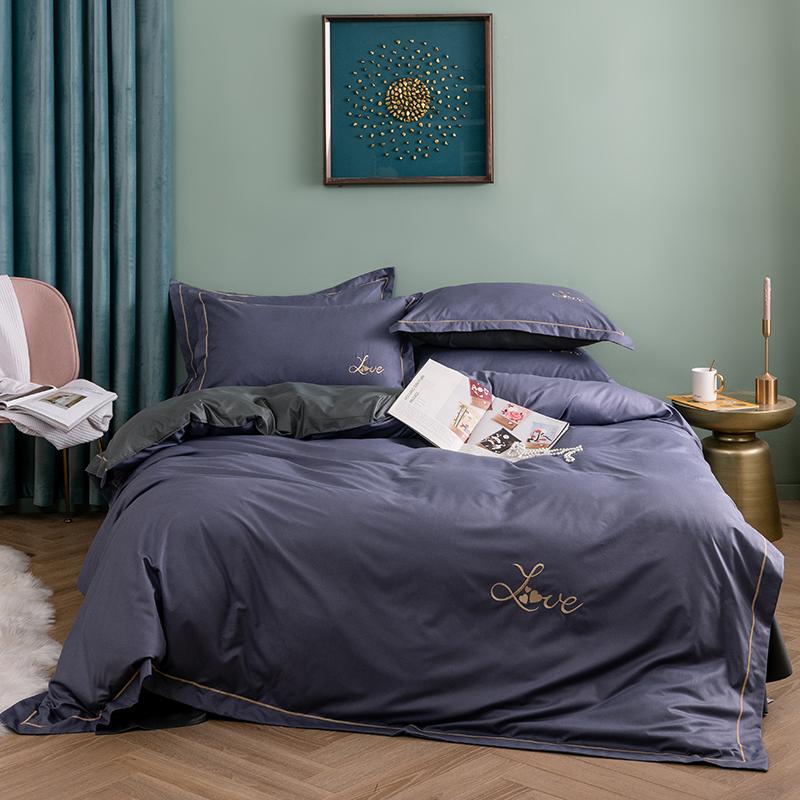 米 1.5 單雙人床單被套 1.8m 四件套全棉純棉床上用品宿舍床單被套