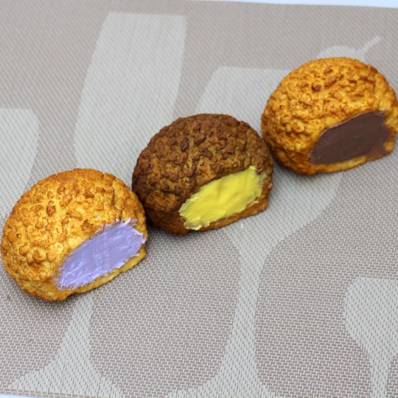 仿真奶油泡芙模型食品食物模型订制仿真甜品糕点模型展示摆设道具