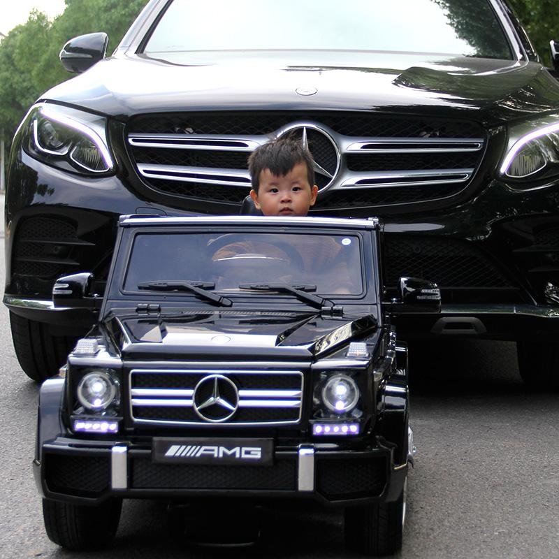奔驰儿童电动越野车四轮宝宝电动小汽车玩具车可坐人带遥控超大号