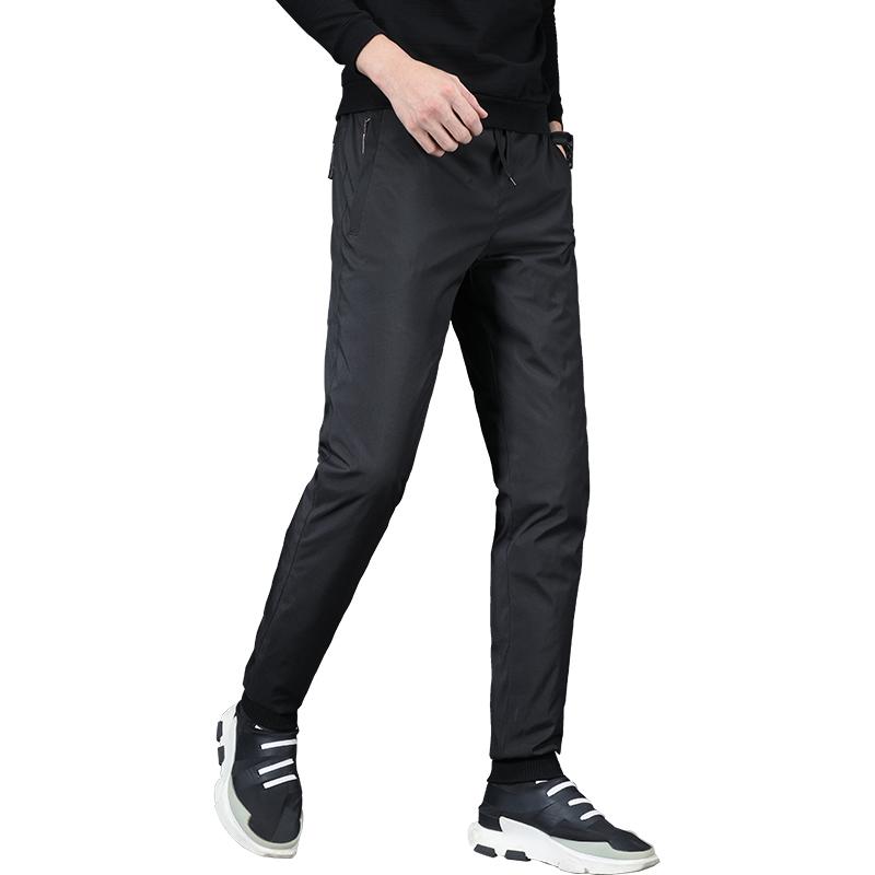 新款羽绒裤男外穿户外青年运动百搭休闲加厚小脚收口保暖羽绒棉裤