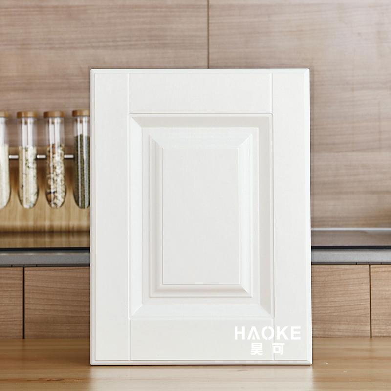 欧式橱柜门板定做pvc吸塑模压门色卡衣柜鞋柜定制肤感膜厨房柜门