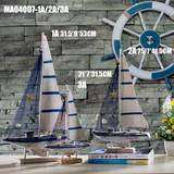 Smooth sailing ship ocean wind sailing home decoration fashion model wood crafts ornaments decorations Desktop
