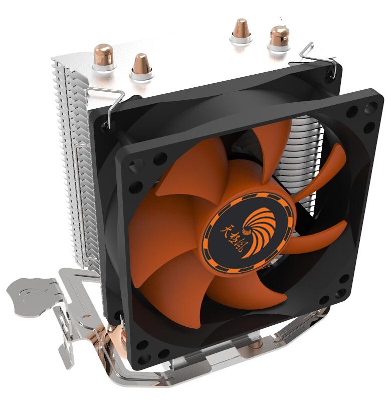 天极风阿修罗 多平台CPU散热器 双铜热管8CM静音 电脑配件