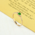 Ring female citrine gemstone Japanese and Korean trendy simple student wild 18K gold plated net red personality simulation diamond ring