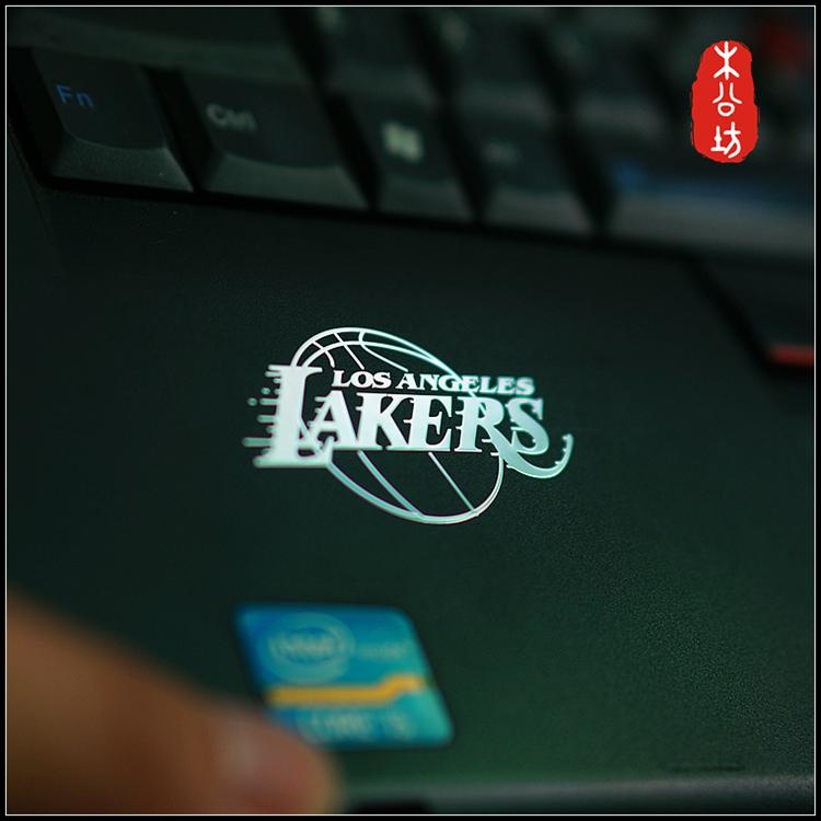 木公坊NBA科比湖人隊隊徽手機金屬貼紙電腦貼平面都能貼