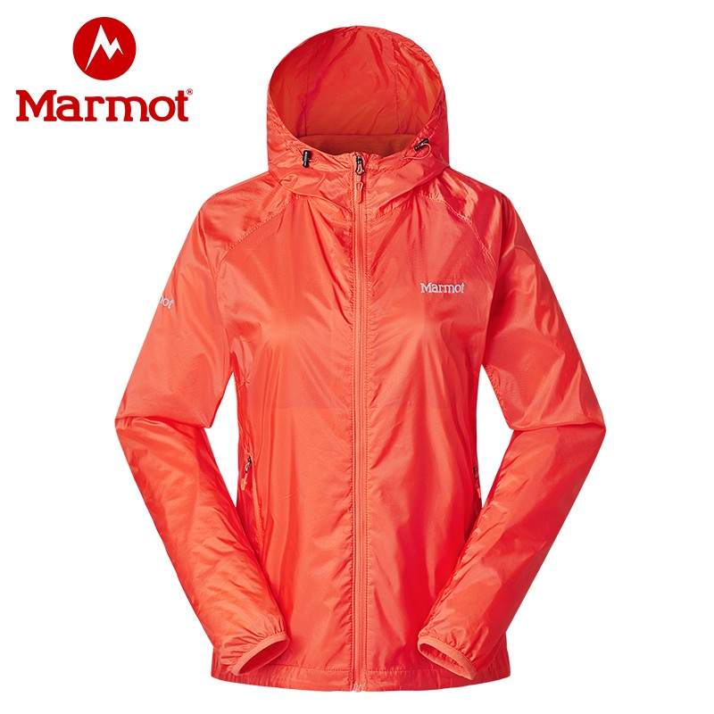 土拨鼠户外防风吸湿排汗皮肤衣舒适透气女士带帽皮肤神衣 marmot