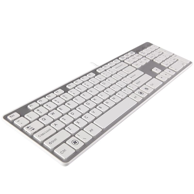 巧克力键盘 超薄静音有线usb台式电脑笔记本外接游戏办公白色键盘