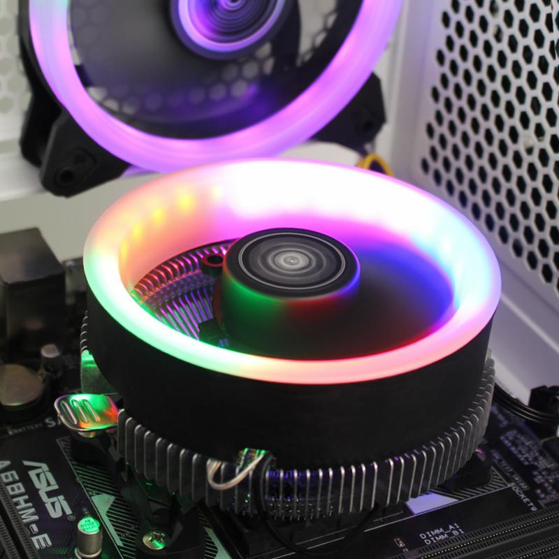 台式电脑i5猫扇静音cpu散热器下压Intel英特尔1151针i3通用i7/AMD