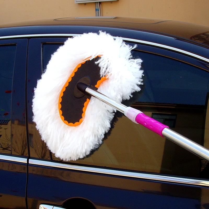 洗车拖把掸子刷子擦车布长杆柄伸缩软毛除尘神器汽车用品专用工具