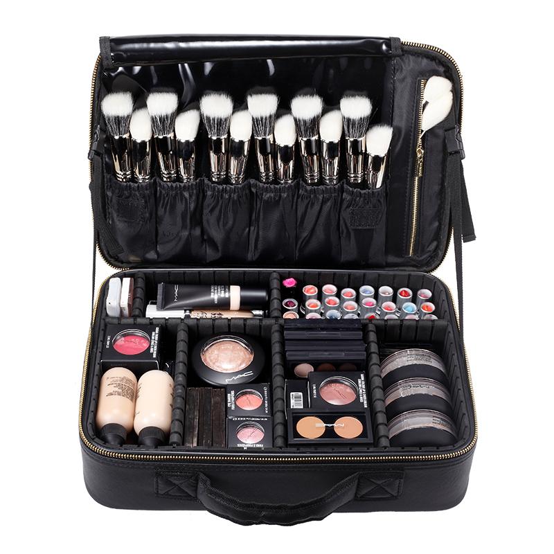 朗颜专业化妆包女便携大容量小号跟妆师韩国2019新款收纳箱品网红