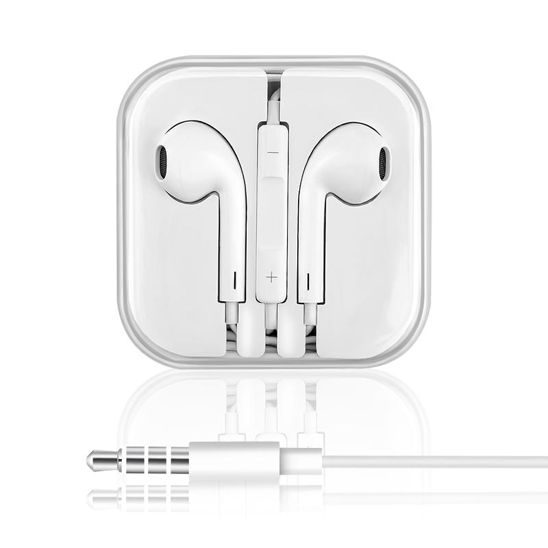 耳机入耳式通用男女生6s原装正品6适用iPhone苹果vivo华为小米oppo手机线安卓重低音炮有线控耳塞x9x20
