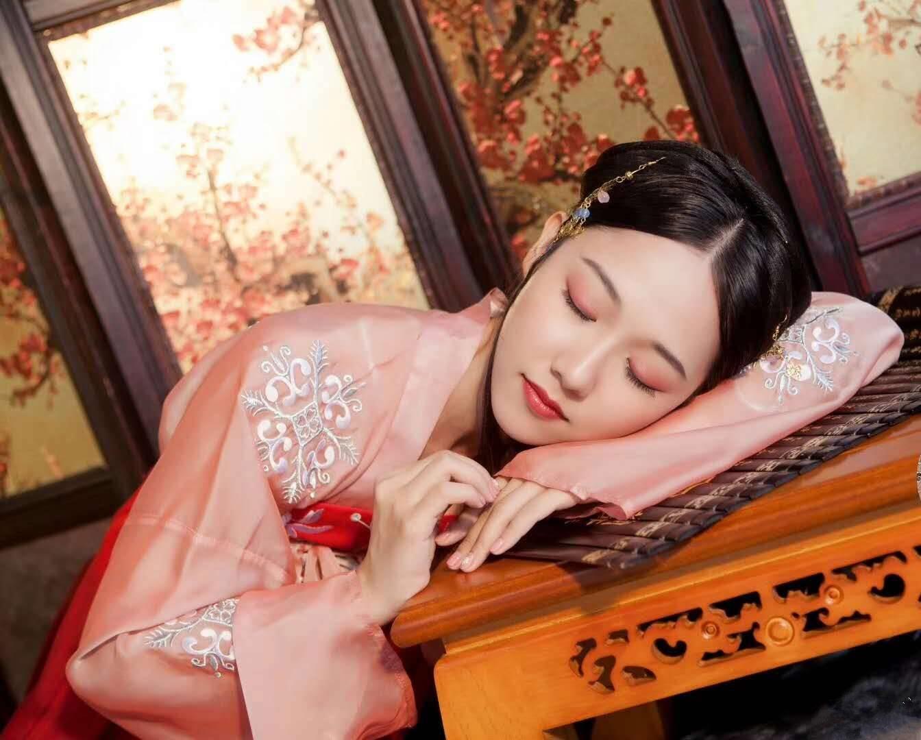 汉服女中国风红色古装齐胸襦裙飘逸清新淡雅仙女裙秋装汉服女改良
