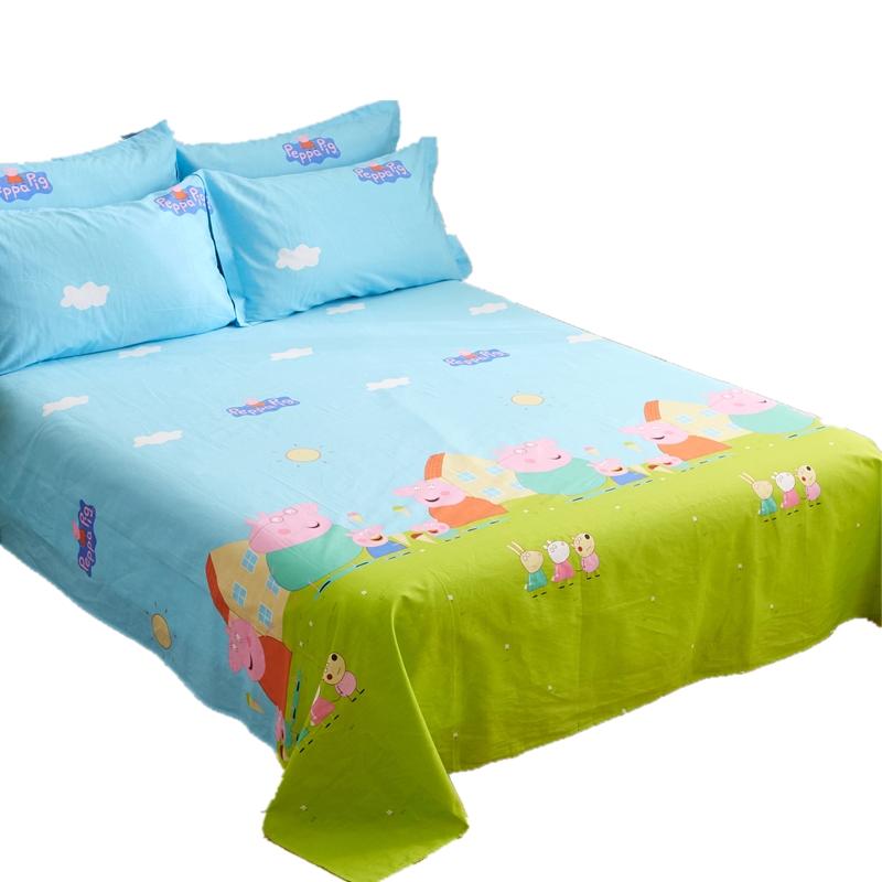 定做全棉卡通单件双人超大纯棉床单床笠榻榻米大炕单3米3.5米4米