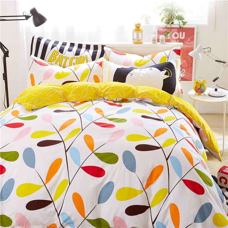 米床上用品春夏 1.51.8 雅鹿北欧网红款四件套全棉纯棉被套宿舍床单