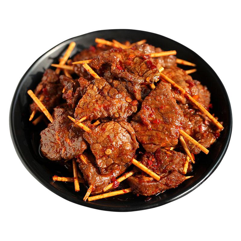 楚浏香牙签肉麻辣手撕牛肉粒熟食网红冷小吃零食牙签牛肉湖南特产