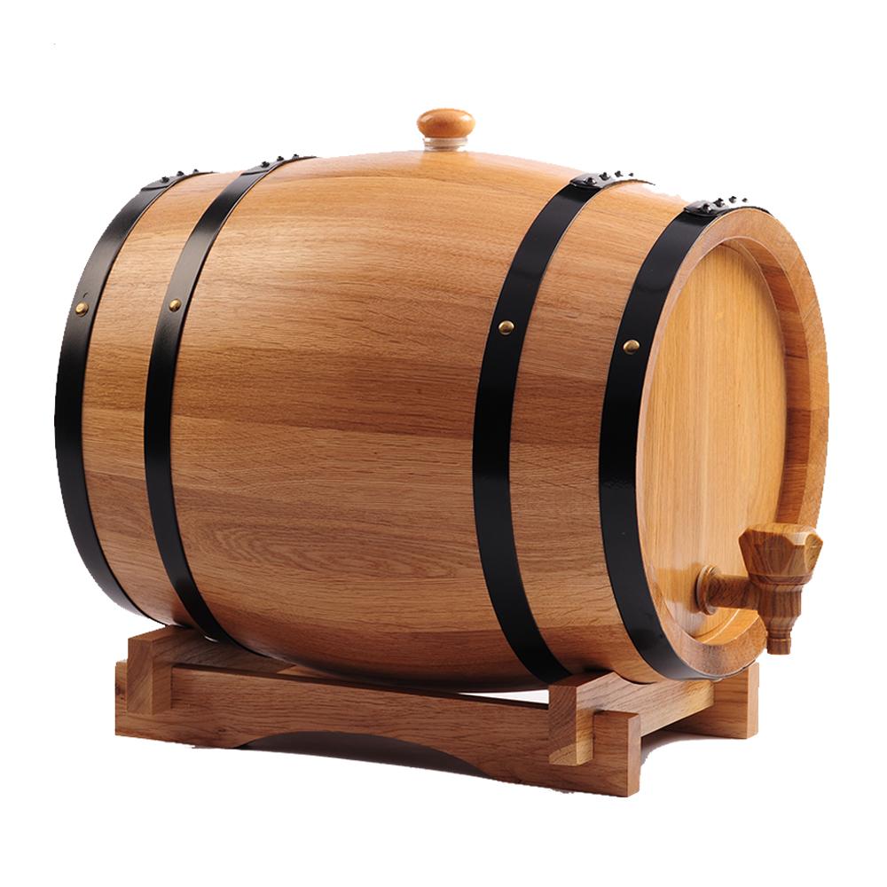 品牌无胆橡木酒桶3升5升10L20L30升烘烤橡木桶红酒桶自酿葡萄酒桶