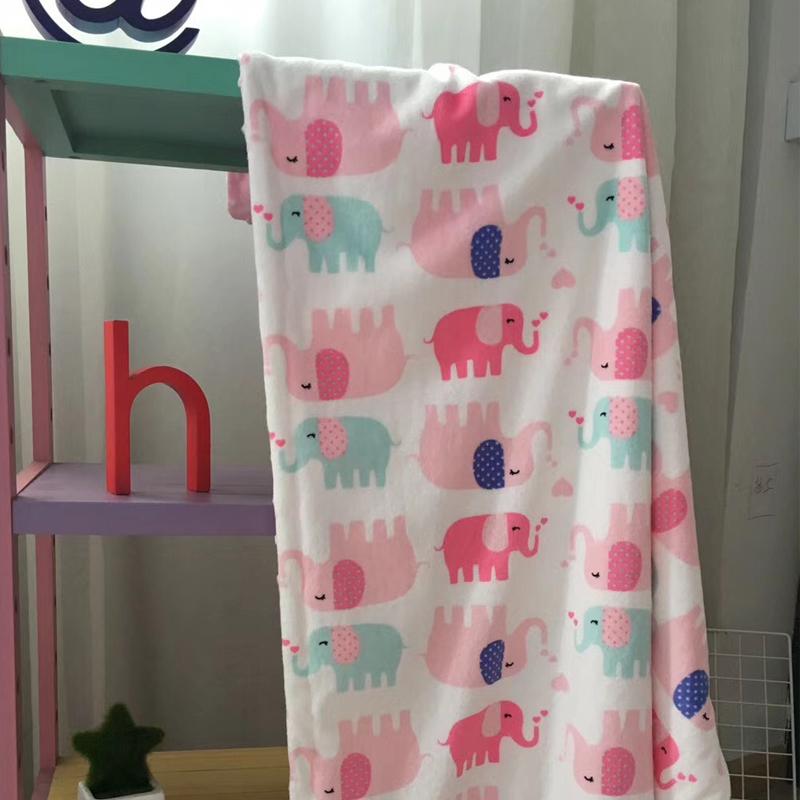 婴儿毛毯春夏季宝宝安抚被子小毯子四新生儿童盖毯幼儿园双层卡通