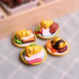 日本Gudetama蛋黄哥懒蛋蛋玩具懒蛋君手办小摆件创意礼物盲盒盲袋