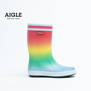 【20春夏新品】法国AIGLE艾高儿童天然橡胶手工雨靴LOLLY POP KID