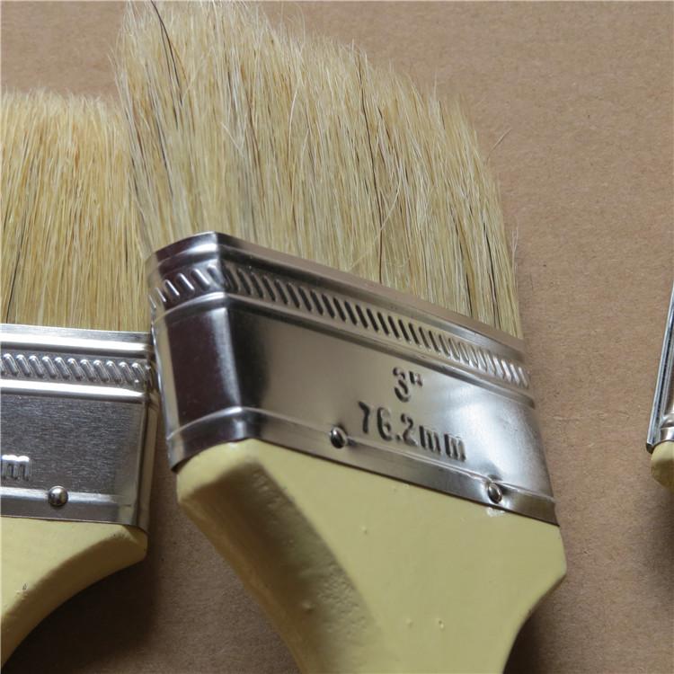 猪毛刷子 油漆刷 软毛刷猪鬃刷加厚不掉毛3寸4寸5寸6寸8寸1寸2寸