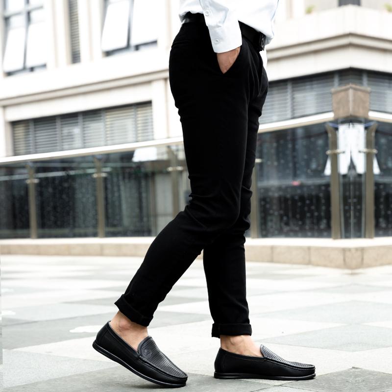 城市 骆驼男鞋夏季男士软底休闲皮鞋真皮懒人爸爸鞋透气镂空凉鞋