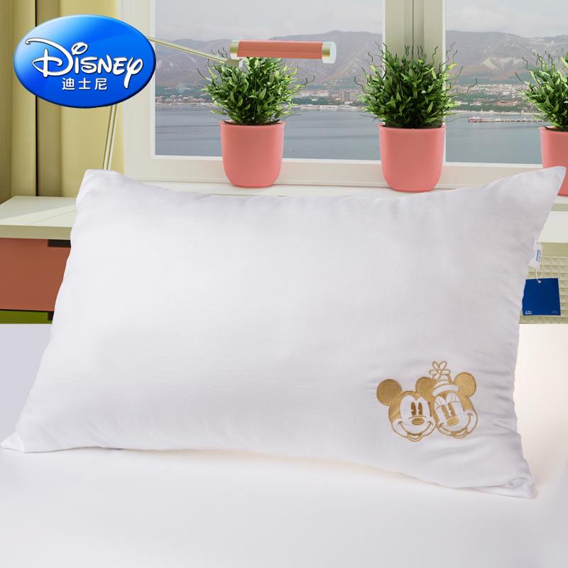 Disney/迪士尼枕頭枕芯 全棉壓縮枕芯兒童枕卡通全棉枕芯護頸枕芯
