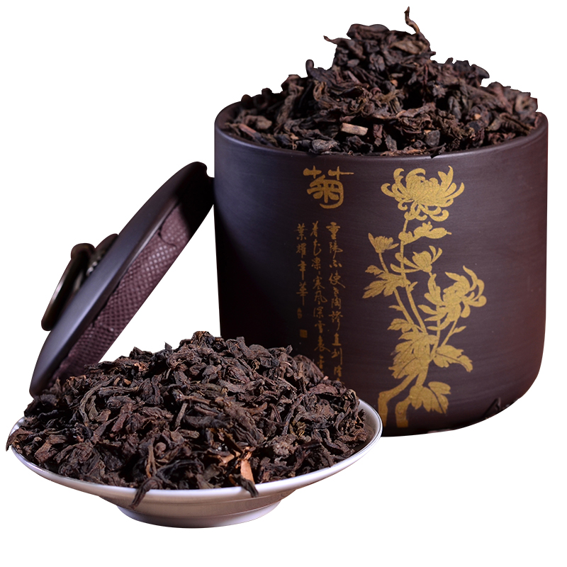 紫砂罐礼盒装 年醇香 5 熟茶散茶 易武古树普洱茶 云南茶叶