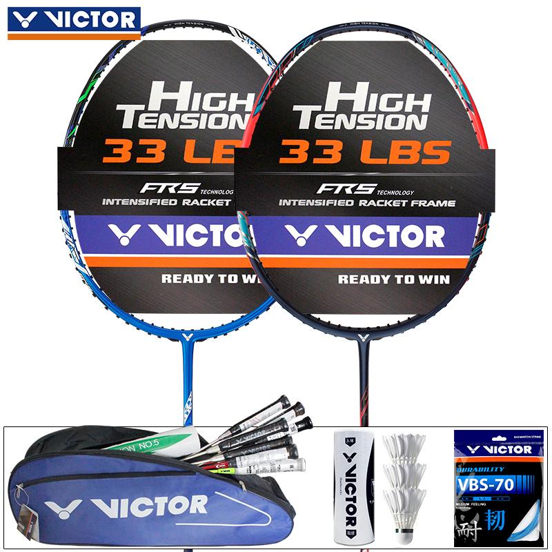 正品victor勝利羽毛球拍 碳纖維單拍進攻型全碳素高磅拍突擊tk770