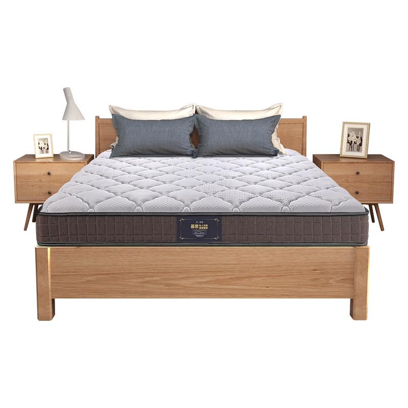 米风典 1.8 厚高碳钢偏硬弹簧床垫高箱床专用乳胶床垫 16cm 慕思床垫