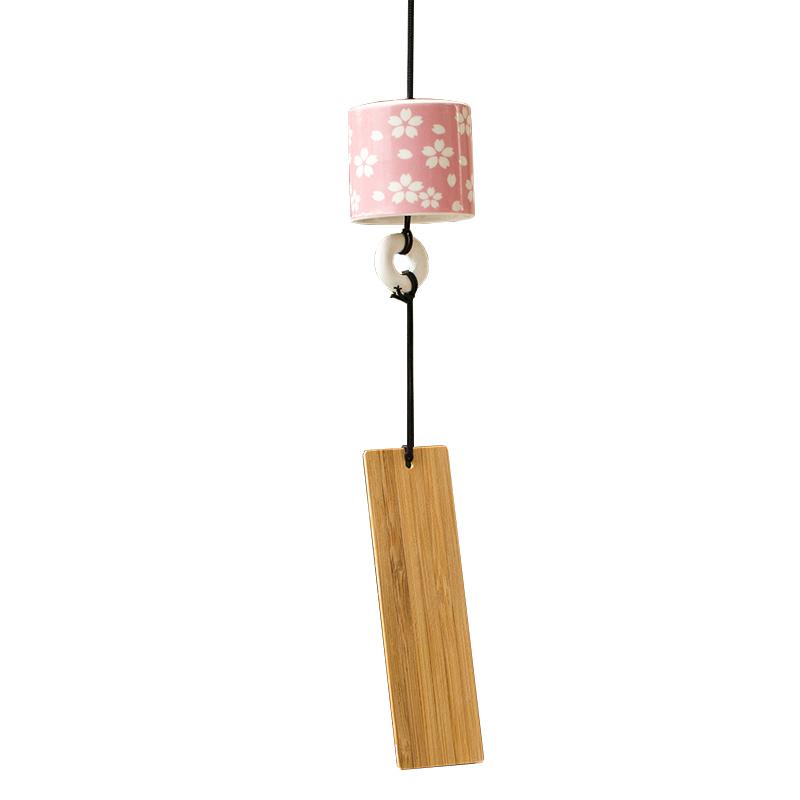 创意日式樱花陶瓷风铃挂饰卧室和风女生闺蜜生日礼物铃铛挂件门饰